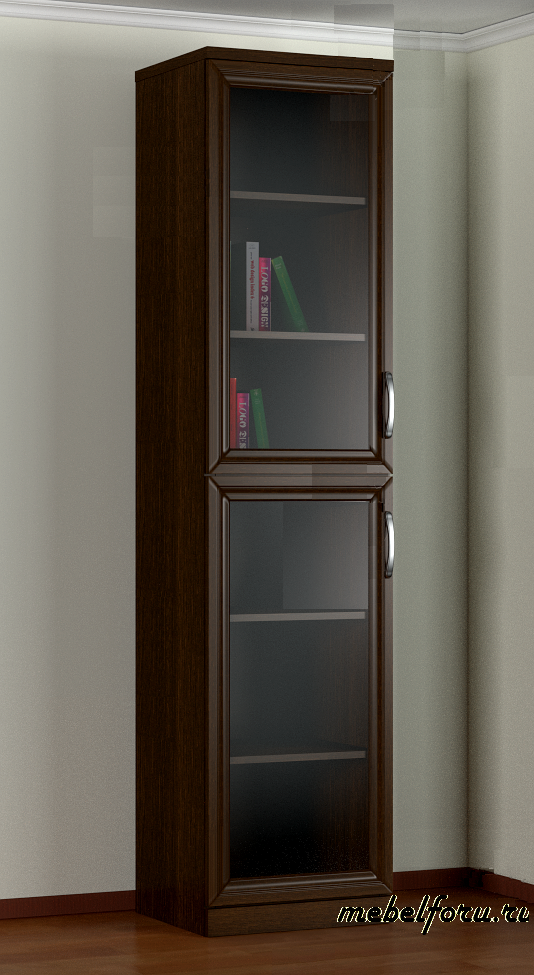 Книжный шкаф со стеклом фото